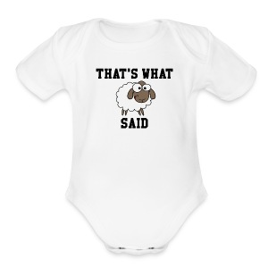That's What Sheep Said Baby One Piece - Short Sleeve Baby Bodysuit