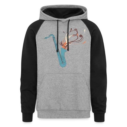 Unisex Saxophone Sweatshirt - Colorblock Hoodie