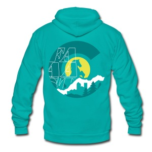 Denver Colorado - Unisex Fleece Zip Hoodie by American Apparel