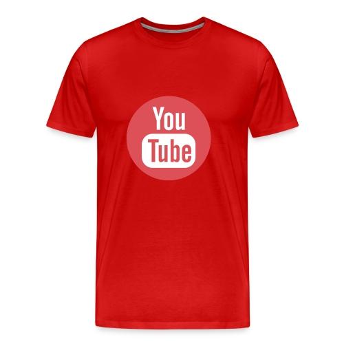 Red Youtube T-Shirt - Men's Premium T-Shirt