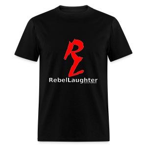 Men's Rebel Laughter Red Logo Black Tee - Men's T-Shirt