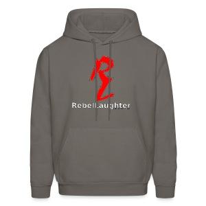 Men's Rebel Laughter Red Logo Hoodie - Men's Hoodie