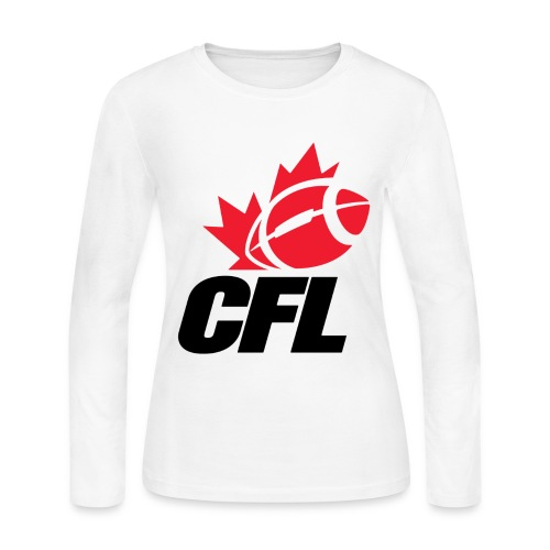 CFL Logo long sleeve crew neck jersey - Women's Long Sleeve Jersey T-Shirt