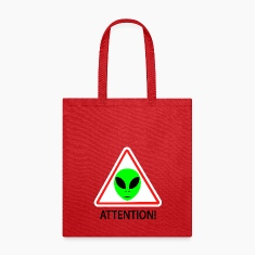 Alien attention sign Bags & backpacks