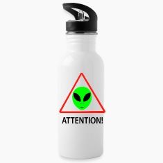 Alien attention sign Mugs & Drinkware