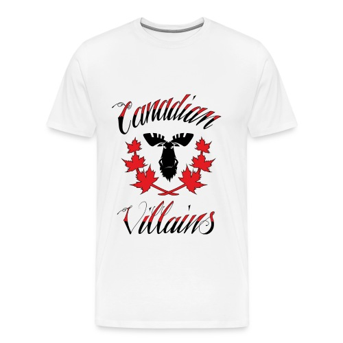 Canadian Villains Tee-Wht - Men's Premium T-Shirt