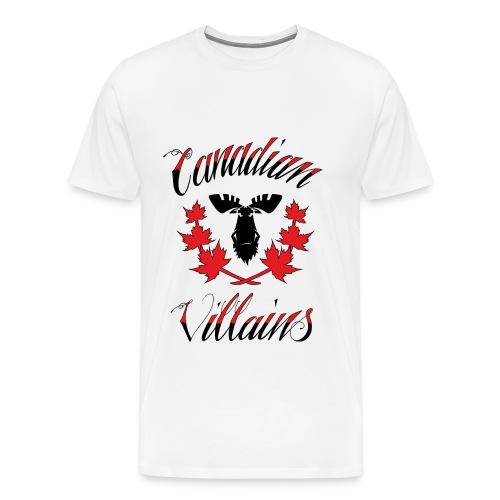 Canadian Villains Tee-Wht - Men's Premium T-Shirt