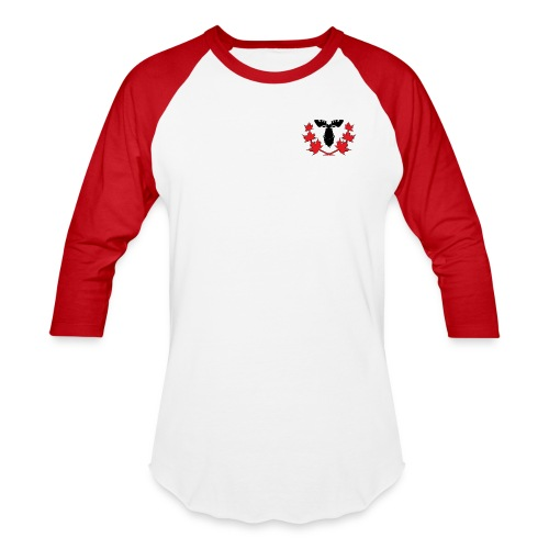 Canadian Villains Raglan-Wht/Red - Baseball T-Shirt