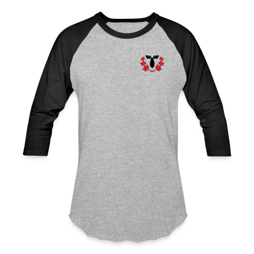 Canadian Villains Raglan-Gry/Blk - Baseball T-Shirt