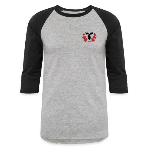 Canadian Villains Raglan-Gry/Blk - Baseball T-Shirt