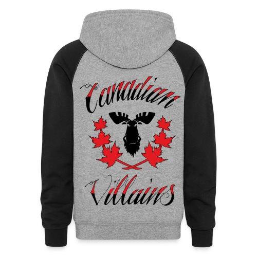 Canadian Villains Hoodie - Colorblock Hoodie