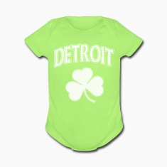 Detroit Irish Shamrock Baby Bodysuits