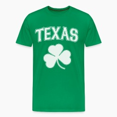 Texas Irish Shamrock T-Shirts