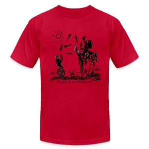 Juggling at Windmills on American Apparel shirt - Men's Fine Jersey T-Shirt