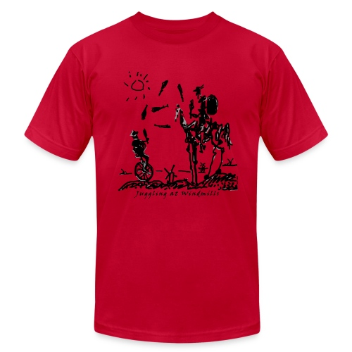 Juggling at Windmills on American Apparel shirt - Men's  Jersey T-Shirt