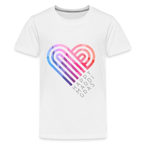 HAPPY MARDI GRAS HEART KIDS PREMIUM TEE - Kids' Premium T-Shirt