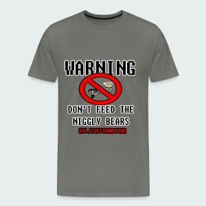 Up to 5XL- Warning, don't feed... - Men's Premium T-Shirt