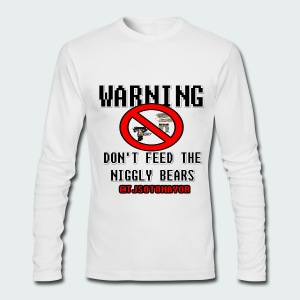 Warning, don't feed... - Men's Long Sleeve T-Shirt by Next Level