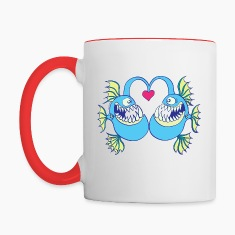 Abyssal Fishes in Love Mugs & Drinkware