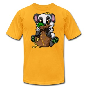 Panda's Gold Bag - Men's T-Shirt by American Apparel