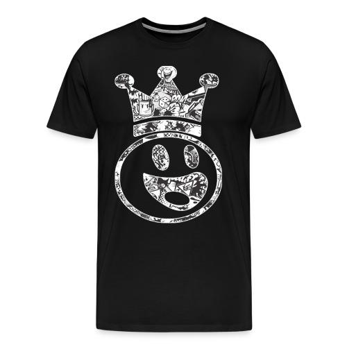 Smiley King - Graffiti - Men's Premium T-Shirt