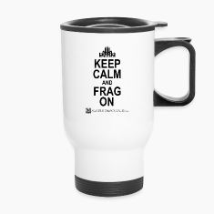 Funny Keep Calm and FRAG ON mug