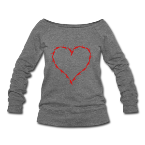 Barbed wire heart  - Women's Wideneck Sweatshirt