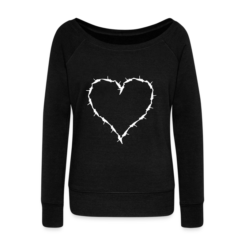 barbwire heart - Women's Wideneck Sweatshirt