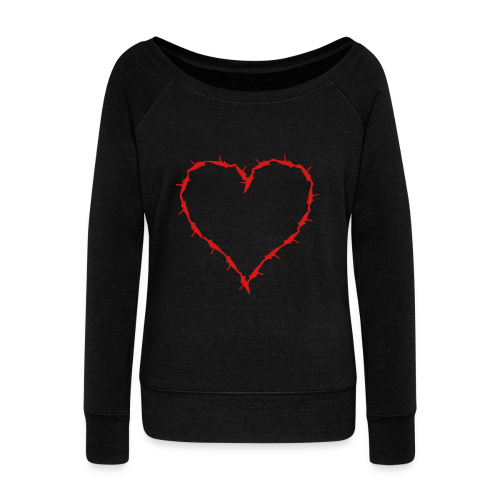 sweat shirt with barbwire heart  - Women's Wideneck Sweatshirt
