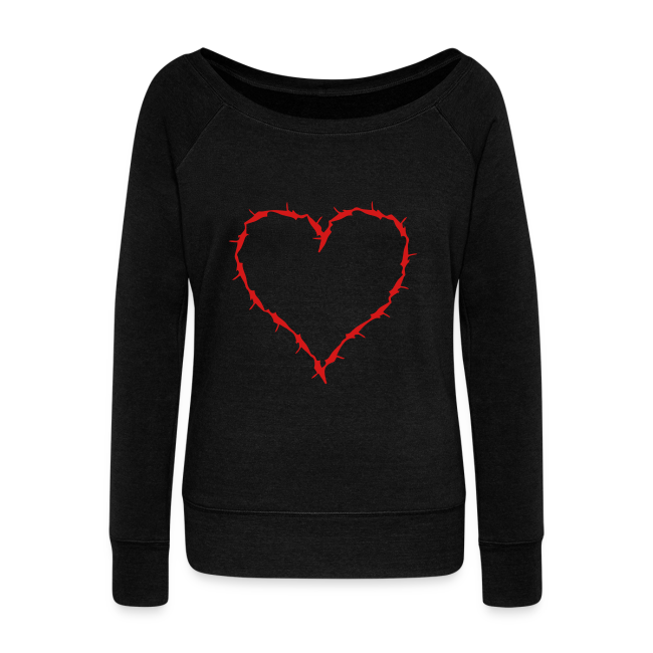 sweat shirt with barbwire heart