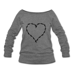 Barbed Wire scoop sweat shirt  - Women's Wideneck Sweatshirt
