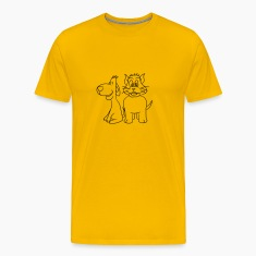 cat dog friends Team liebespaar funny T-Shirts