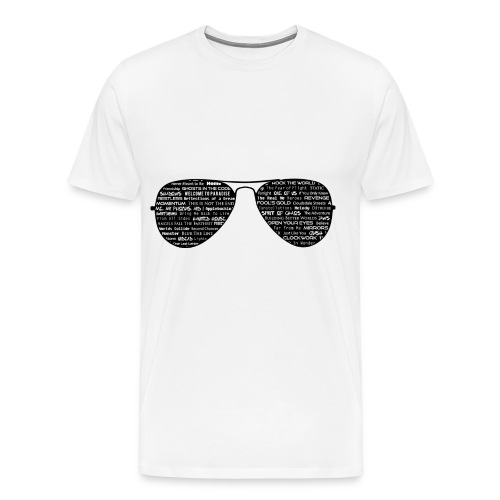 Sunglasses and Song Titles T-Shirt - Men's Premium T-Shirt
