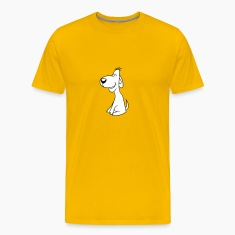 dog sitting obediently sweet loving cute T-Shirts