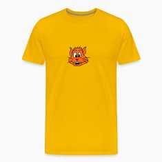 dog cat comic funny laugh sweet orange face head T-Shirts