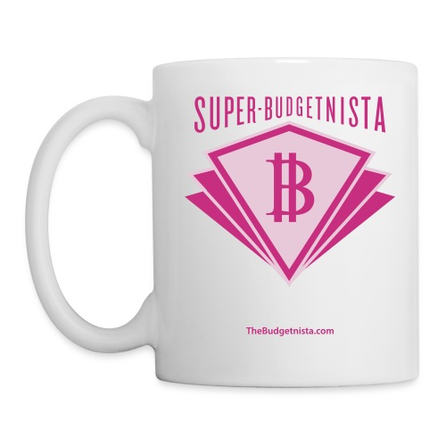 Super Budgetnista Mug,  Magenta/White - Coffee/Tea Mug
