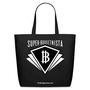 Super Budgetnista Tote, White/Black - Eco-Friendly Cotton Tote