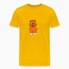 dog cat comic laugh look orange sweet T-Shirts