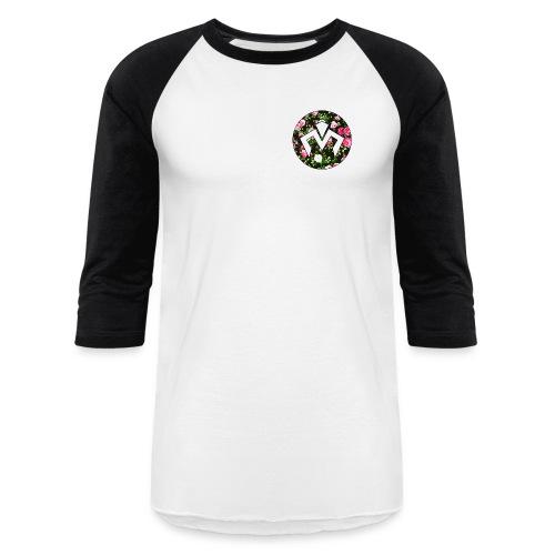 Floral Logo Baseball T - Baseball T-Shirt