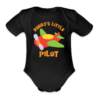 Baby Bodysuits ~ Baby Short Sleeve One Piece ~ Daddys Little Pilot Baby Shirt