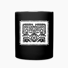 aztec hocker (inverse) Mugs & Drinkware