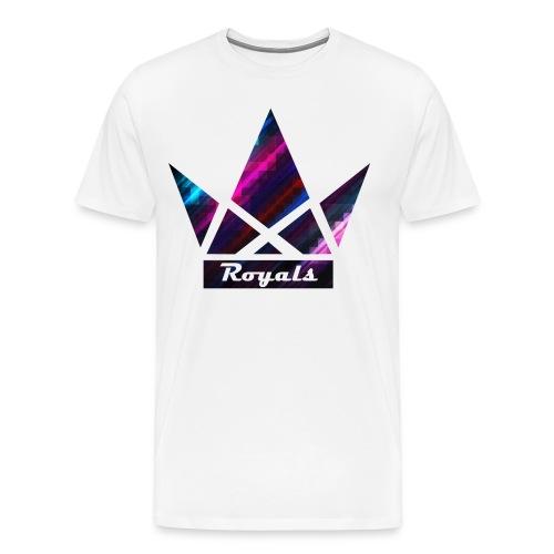 Royals Stencil Crown  - Men's Premium T-Shirt