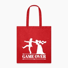 game over bride groom bachelor bachelorette party  Bags & backpacks