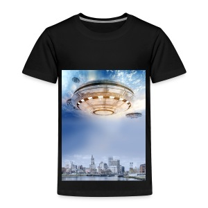 UFO Hoovering Earth - Toddler Premium T-Shirt