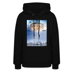 UFO Hoovering Earth - Women's Hoodie