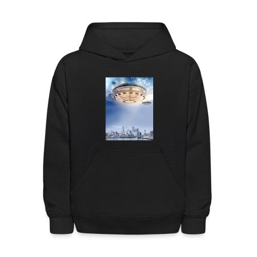 UFO Hoovering Earth - Kids' Hoodie