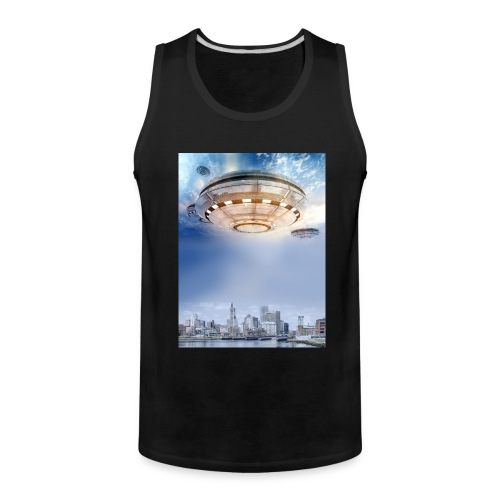 UFO Hoovering Earth - Men's Premium Tank