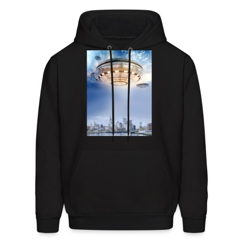UFO Hoovering Earth - Men's Hoodie