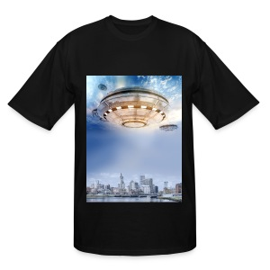 UFO Hoovering Earth - Men's Tall T-Shirt