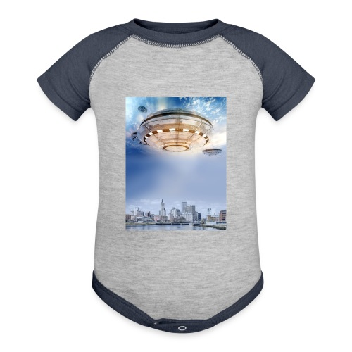 UFO Hoovering Earth - Baby Contrast One Piece
